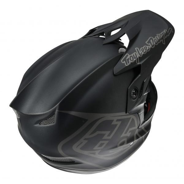 Casco Troy Lee Desings D3 Fiberlite Mono Black