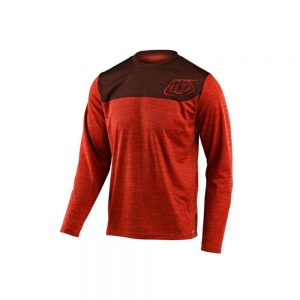 Remera TLD Flowline Jersey Shield Heather LS