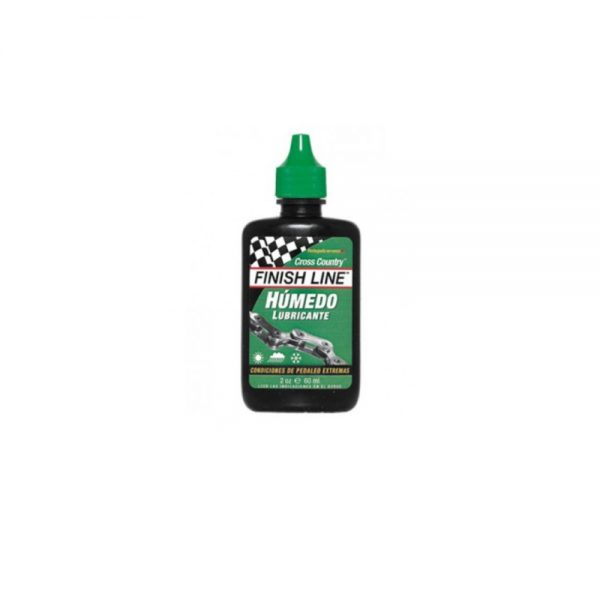 Aceite lubricante Finish Line humedo(verde) 2 OZ Cross Country